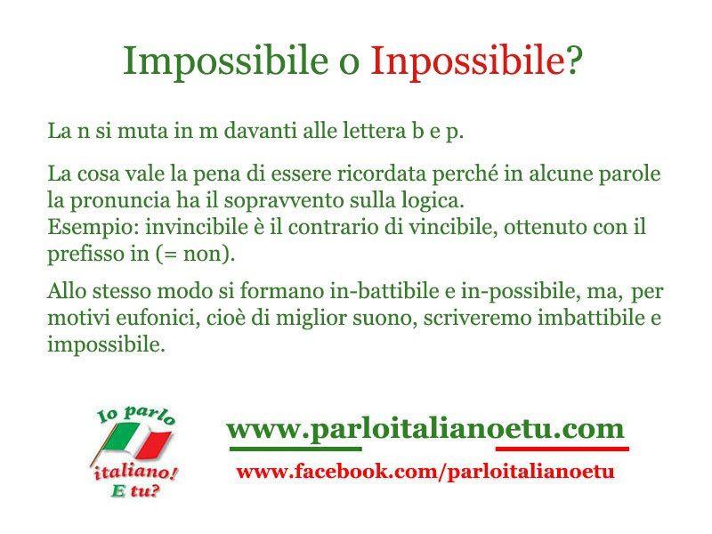 Impossibile o Inpossibile?