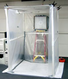 Create A Paint Booth In Your Garage Diy Paint Booth Paint Booth Garage Workshop