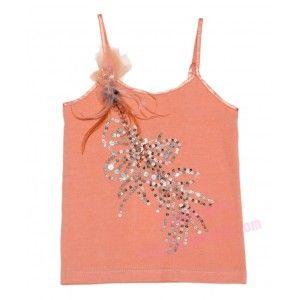 embellished coral top