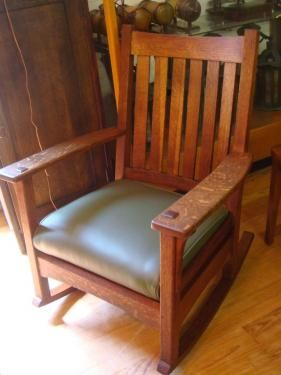 L Stickley Rocking Chair Sr Craftsman Style Furniture