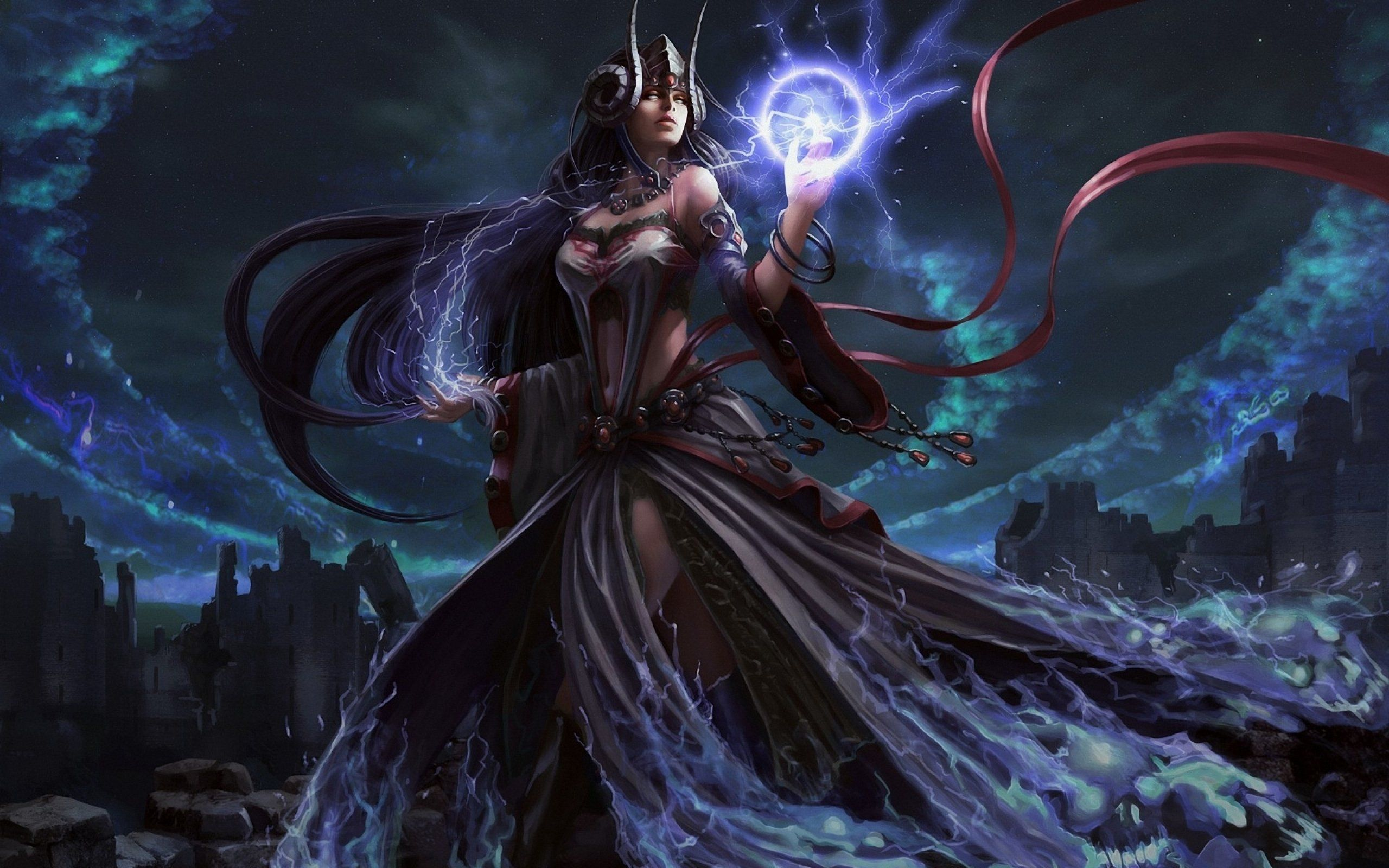 witch fantasy occult dark art artwork magic wizard mage