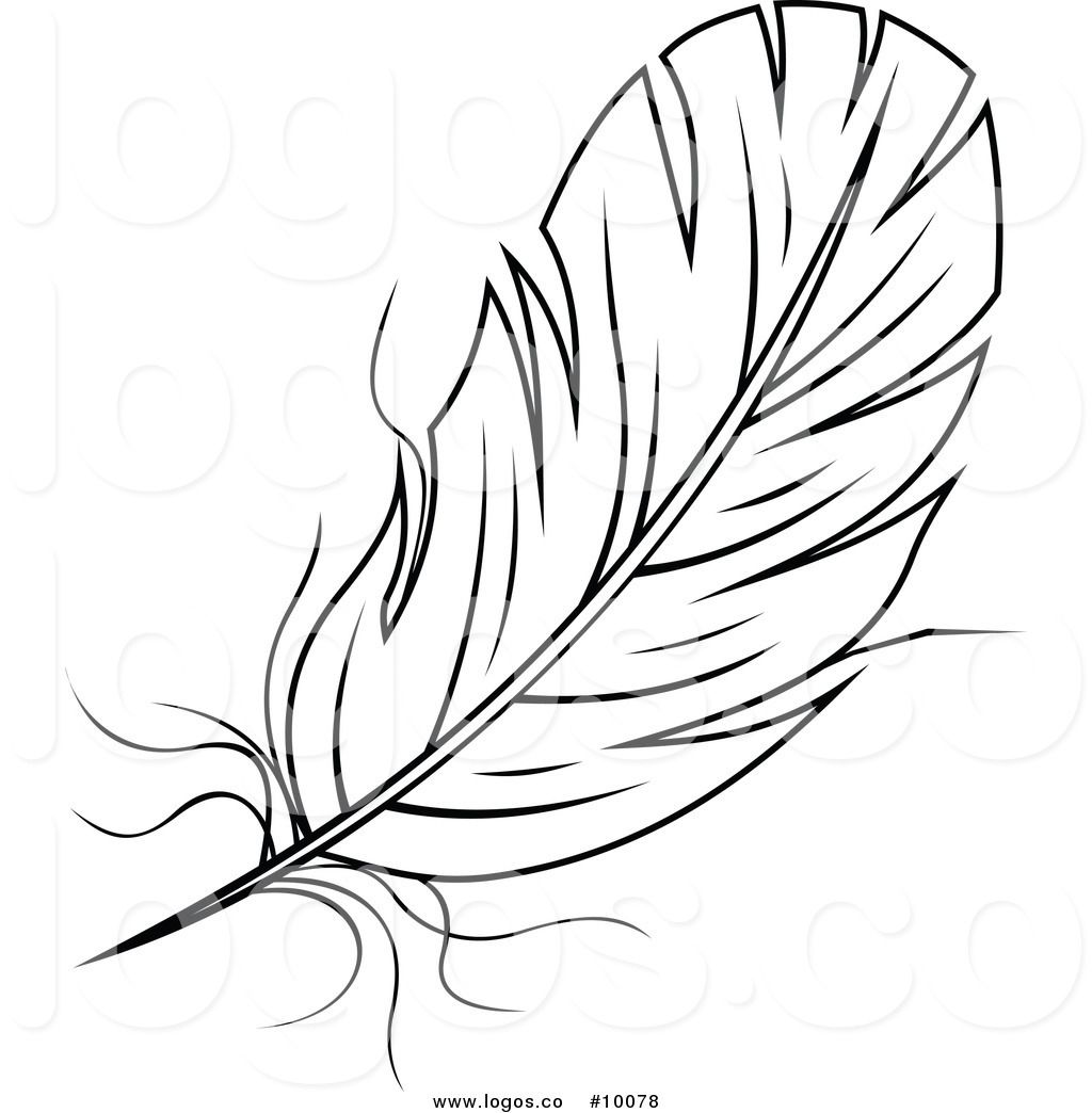 Royalty Free Black And White Feather Stock Logo Designs