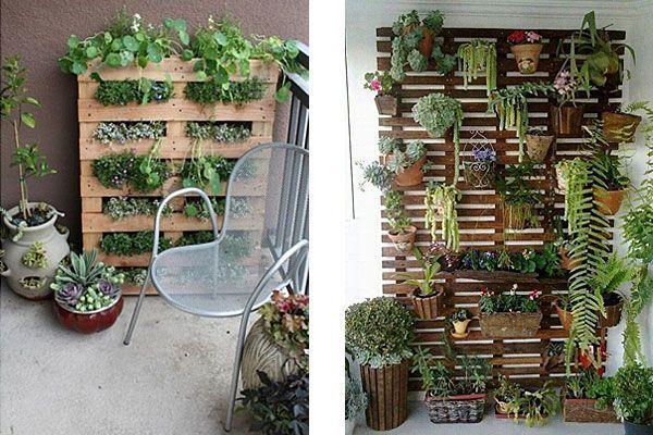 Tuininrichting balkon met verticale tuin verticale tuyin op een