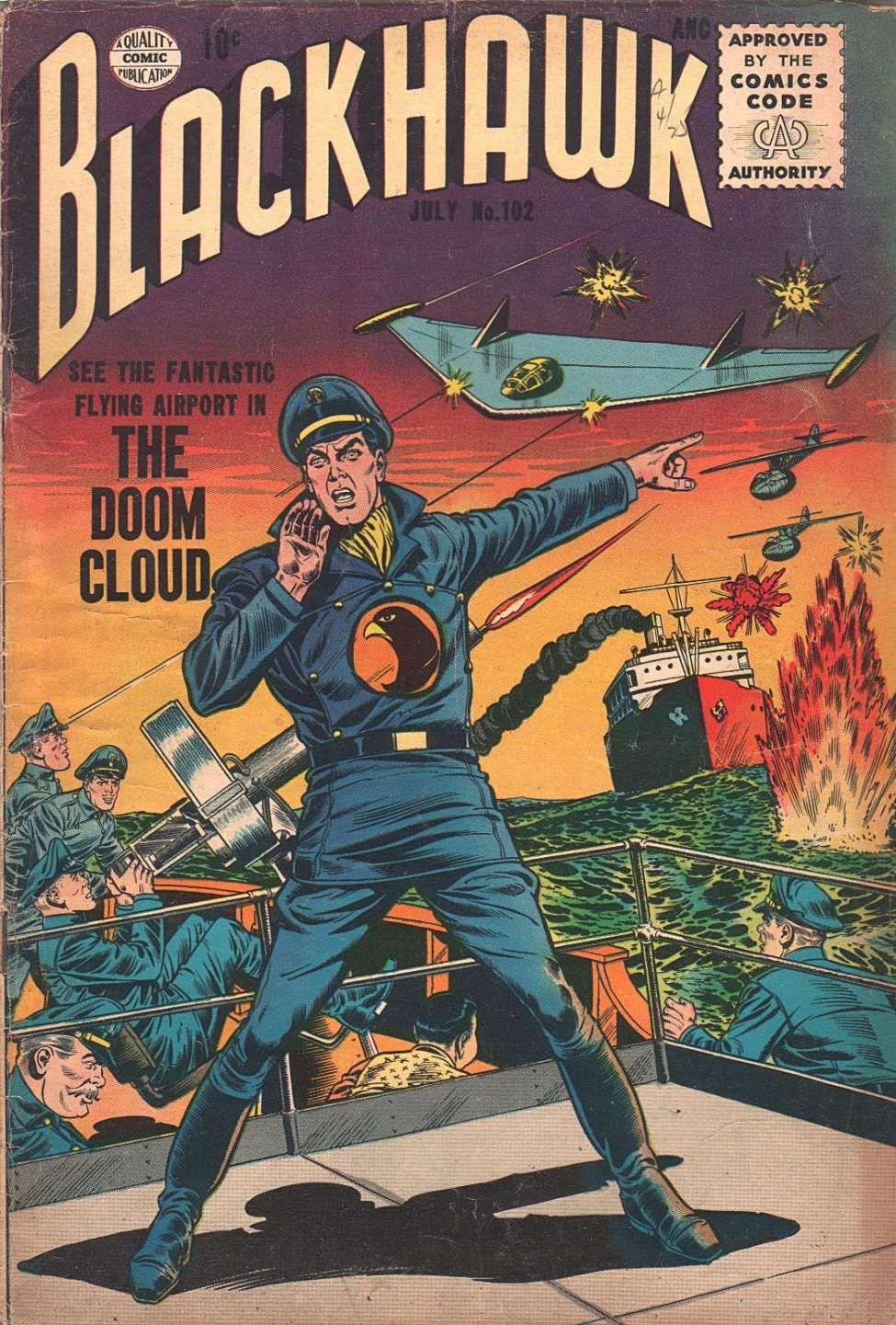 Comic Book Cover For Blackhawk #102 - Version 2