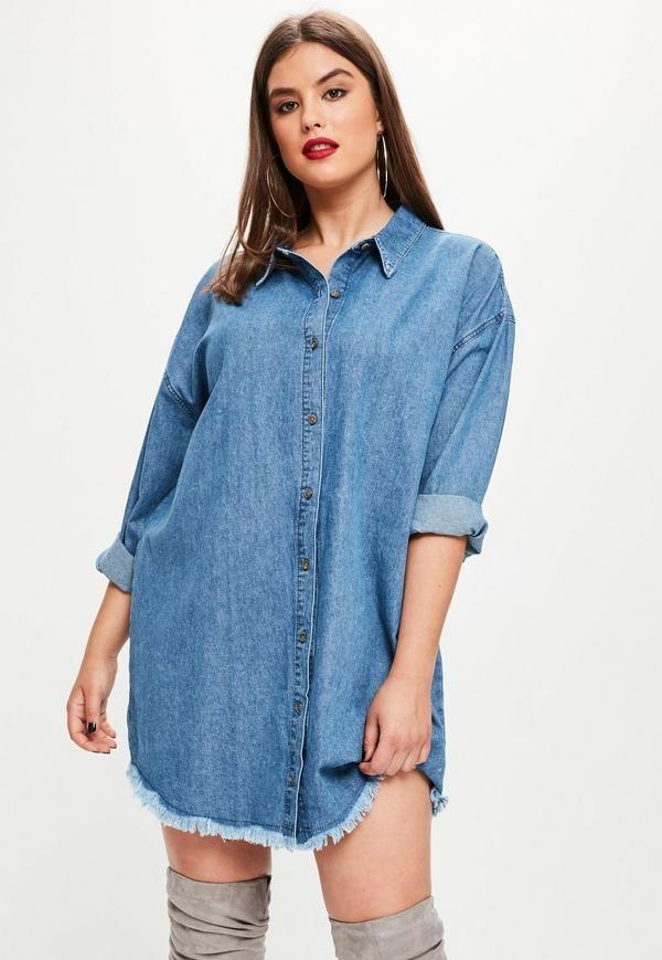 7ce7d37d38c6 Denim shirt featuring an oversized fit