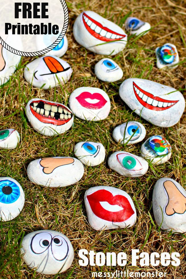 Rock Faces A Fun Rock Painting Idea And Emotions Activity Painted Rocks Kids Painted Rocks Crafts For Kids