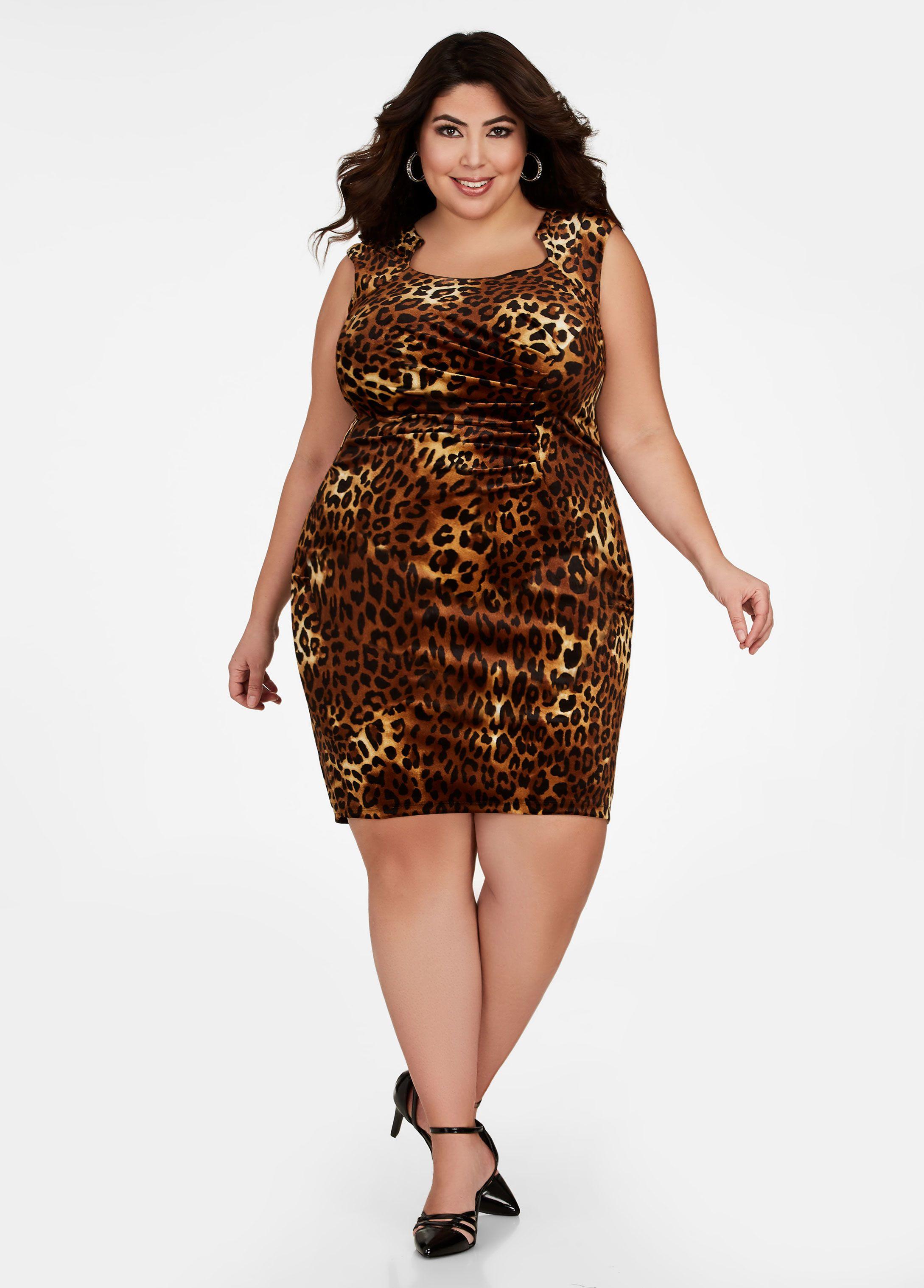 Leopard Print Velvet Dress Jessica Milagros Fashion Dresses