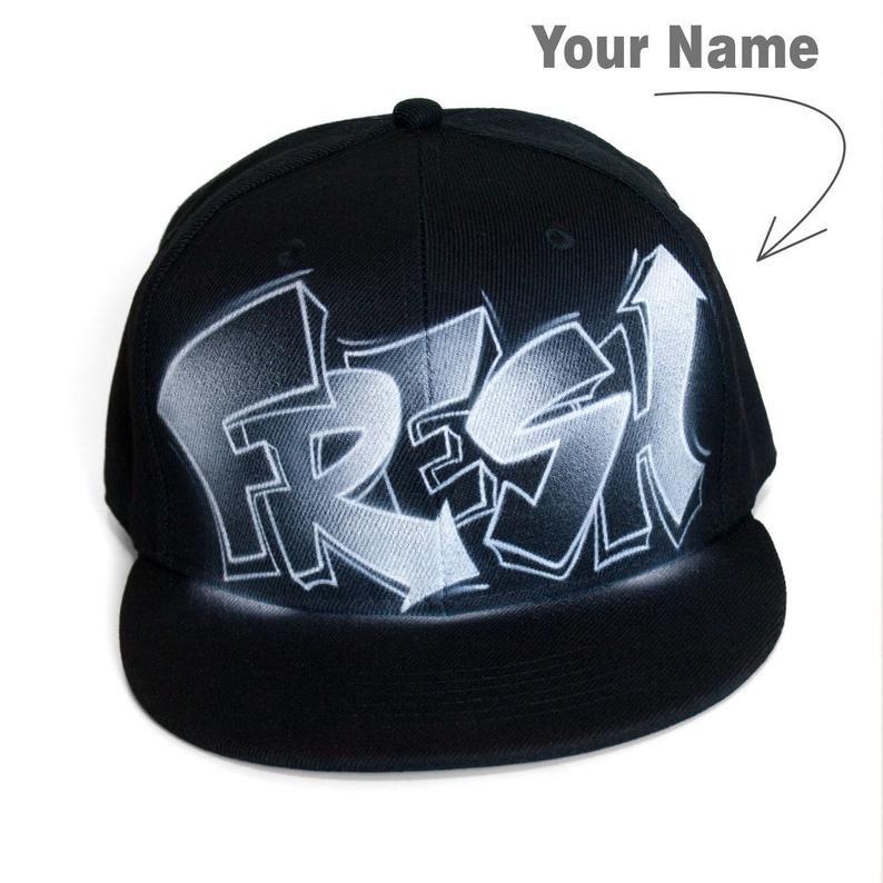 ec5fa4b8 SNAPBACK Hat Flat Cap CUSTOM airbrushed with your graffiti | Etsy ...