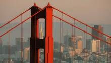 FILE PHOTO: The skyline of San Francisco, California showing the Transamerica Building framed by the north tower of the Golden Gate Bridge is pictured at sunset February 27, 2008. (Robert Galbraith /Reuters)