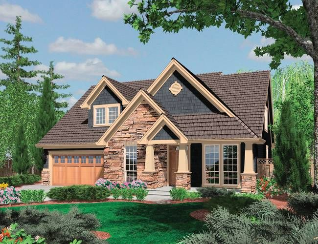 Mascord Plan 22145 The Ackley I Like The Multiple Roof