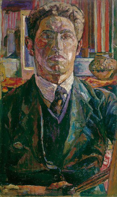 Alberto Giacometti autorretrato, alrededor de 1923 Óleo sobre tela sobre madera, 55 x 32 cm Kunsthaus Z & # 252; & # 169 ricos; Sucesión Giacometti / 2011 ProLitteris, Z & # 252; Urich