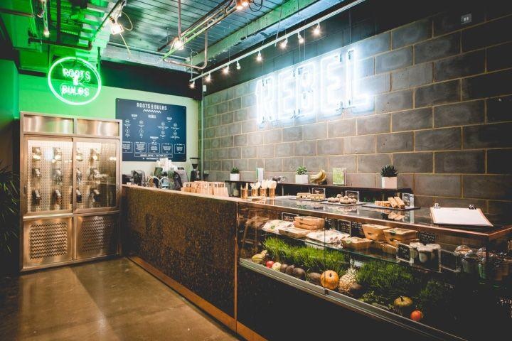 Roots & Bulbs juice bar by Sheridan & Co., London – UK » Retail Design Blog