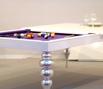 Billiards table also as dining table