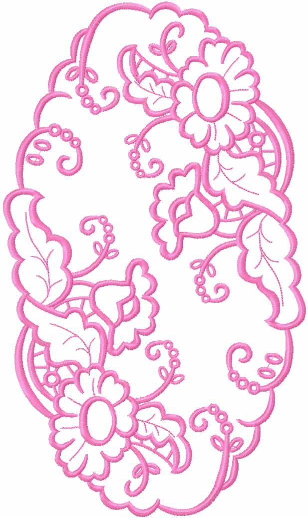 Napkin\'s lace free embroidery design - Lace and FSL free embroidery ...