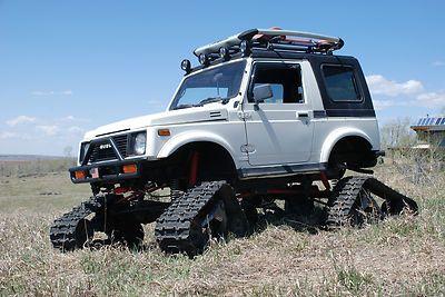 Suzuki Samurai Snowcat Jeep Rockcrawler 4x4 Lifted Tracks Suzuki Samurai