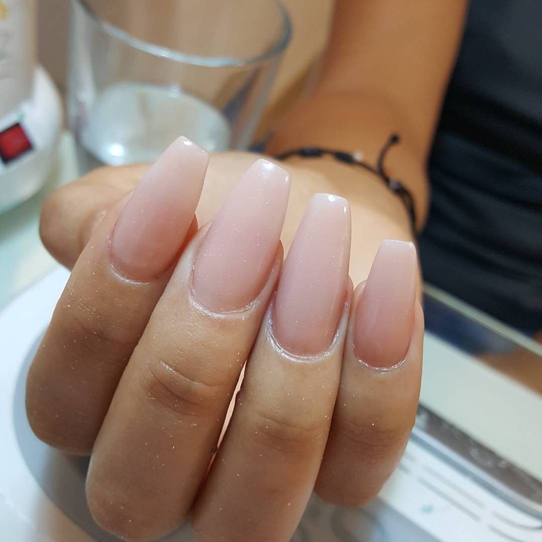 Uñas coffin cover beige | Yamil nails | Pinterest | Sns nails