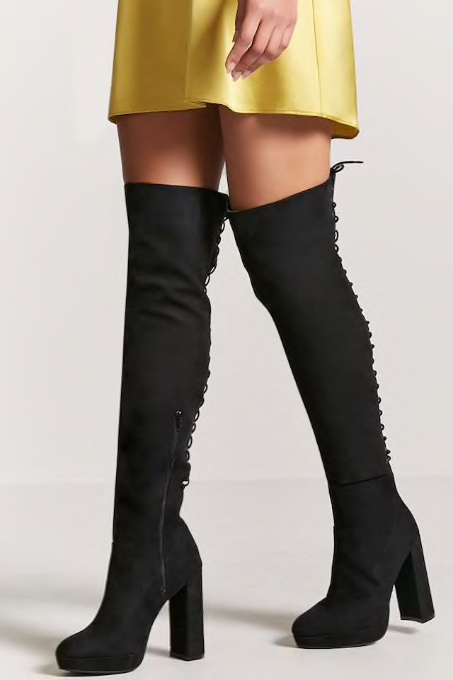 2e605a062b9 Faux Suede Over-the-Knee Boots
