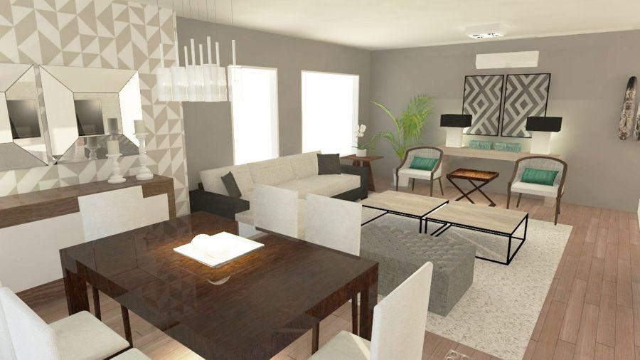 Propuesta remodelaci n living comedor living comedor for Remodelacion de casas pequenas