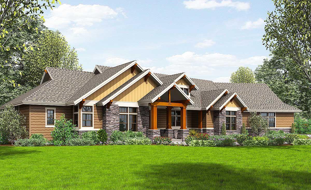Plan 69582AM Beautiful Northwest Ranch Home Plan
