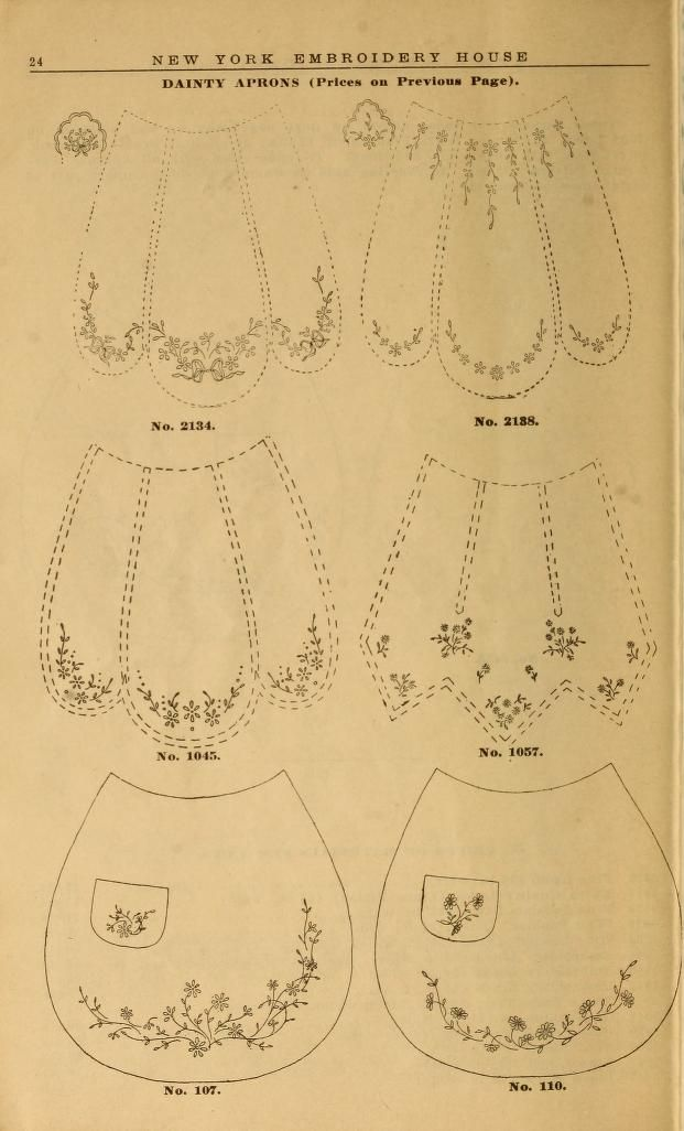 Embroidery hints: Fall and Winter 1910 : dainty aprons