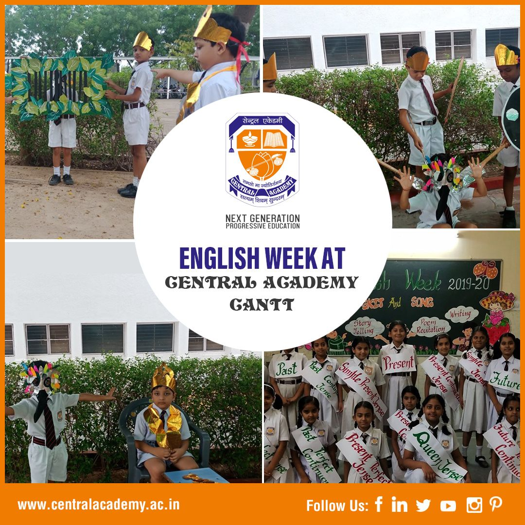 English Week at Central Academy School in Jodhpur Cantt.
