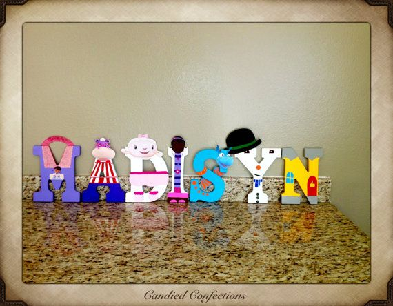 Doc Mcstuffins Character Letters By Mommyhomemadeframes On Etsy