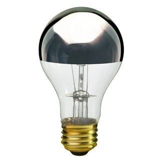 A19 Incandescent Light Bulb 60w 130v Satco S3955 Incandescent Light Bulb Light Bulb Silver Bowl