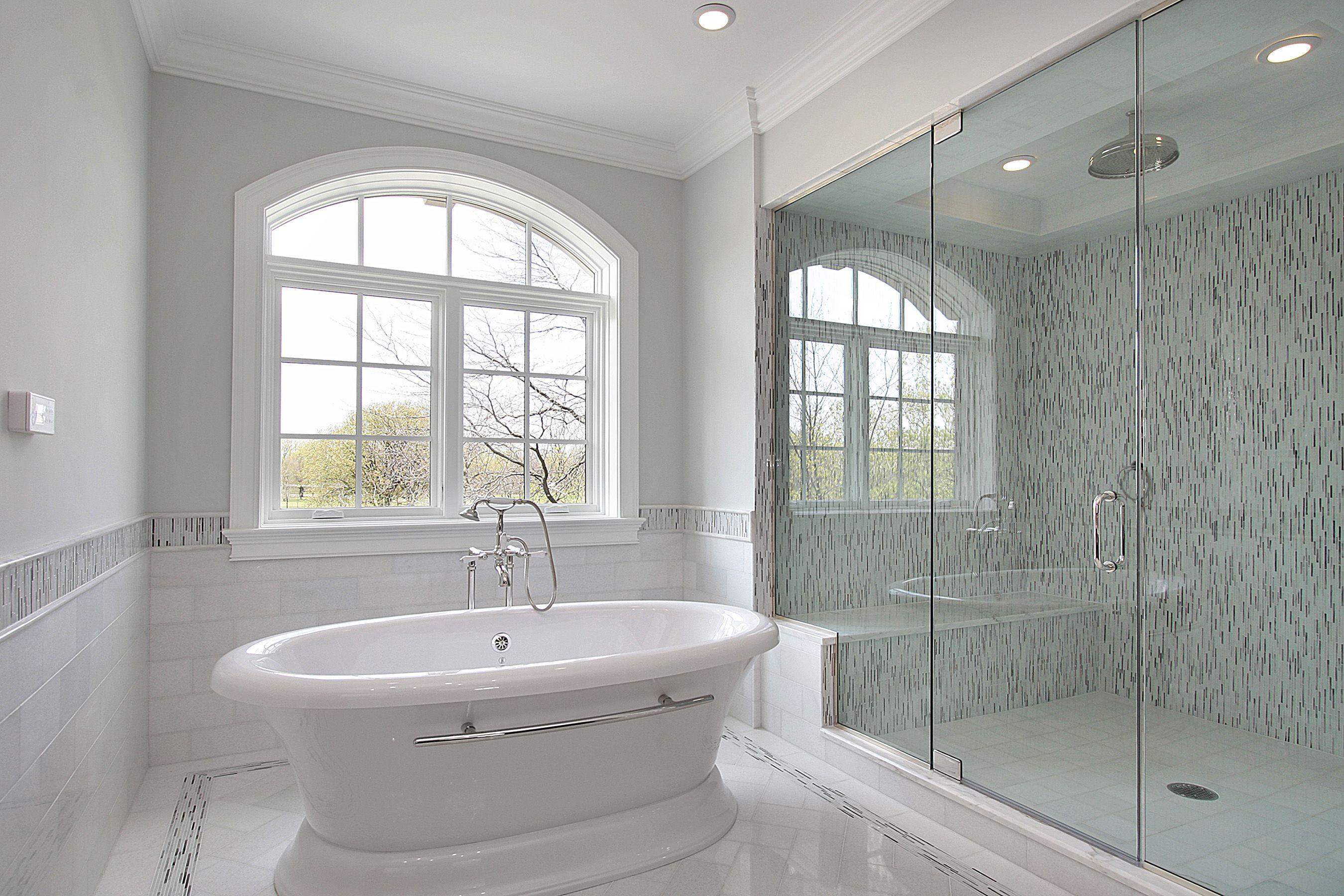 How Much Does A New Bathroom Increase Home Value Our Rwc Blog White Master Bathroom White Bathroom Tiles Glass Bathroom