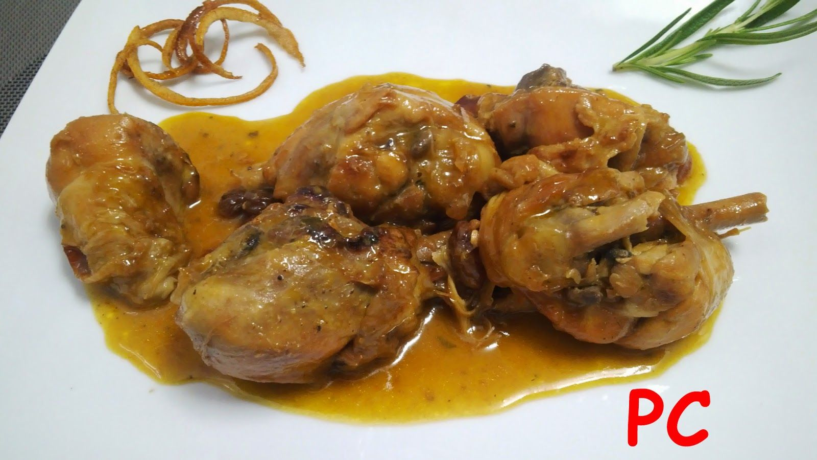 Nuestros Placeres En La Cocina Pollo Con Salsa De Mandarina Al Vino Blanco Pollo En Salsa Recetas De Cocina Fáciles Pollo
