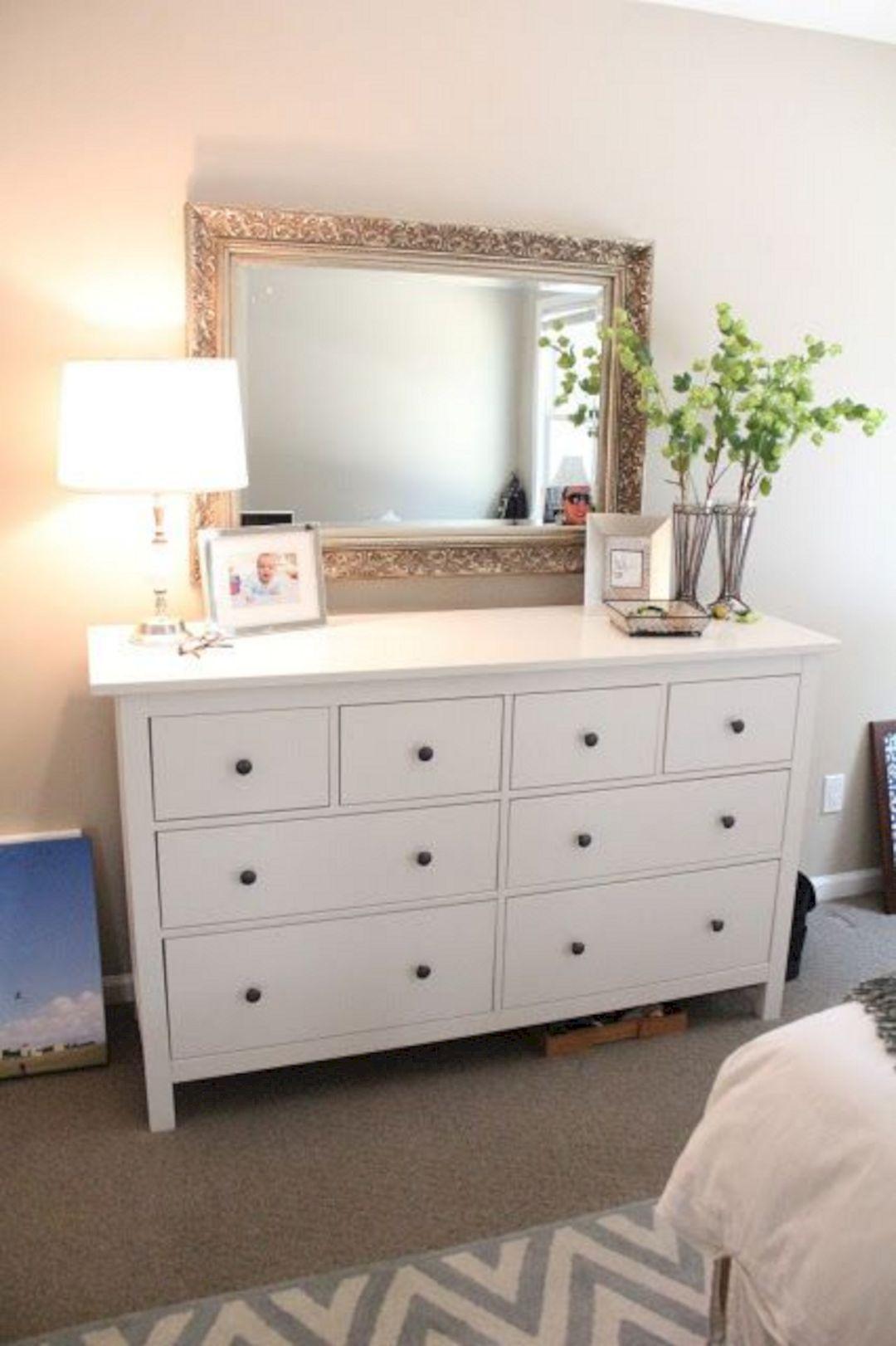 Stylish Bedroom White Dresser Decor