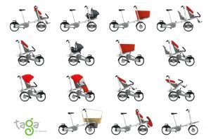 Taga bike, stroller, bike, 1 or 2 kids, shopping cart. I want one ...