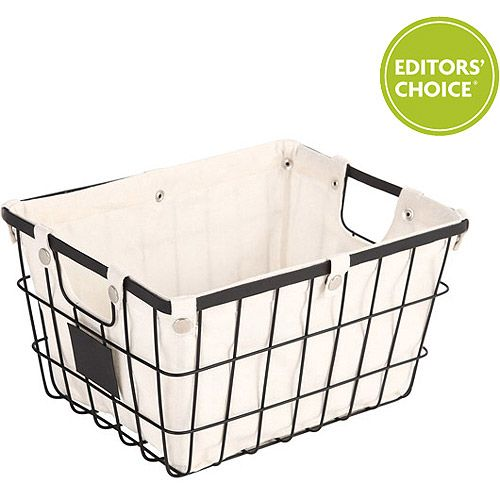 Better Homes and Gardens Small Wire Basket with Chalkboard, Black: Storage & Organization : Walmart.com