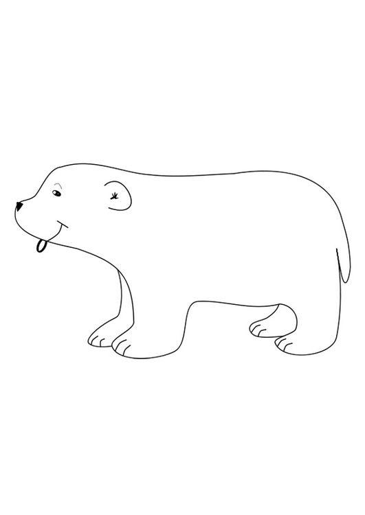 Dibujo para colorear oso polar | Polo sur | Pinterest | Osos, Oso ...