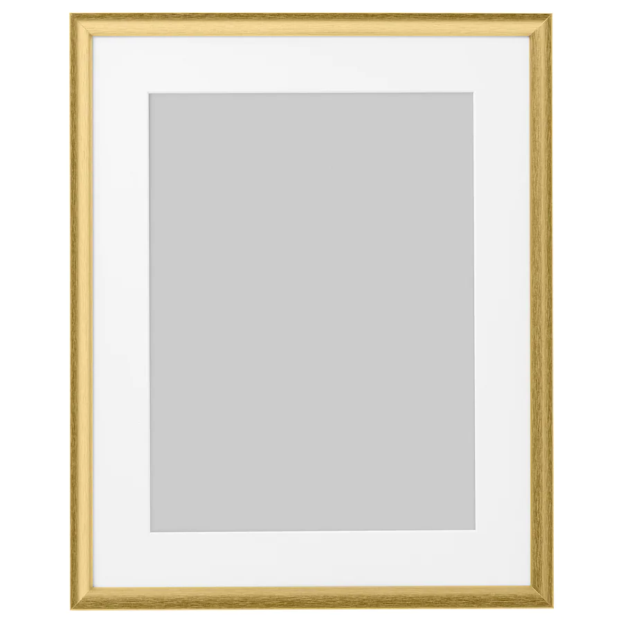 Silverhöjden Cadre Couleur Or 40x50 Cm Ikea In 2021 Frames On Wall Frame Gold Picture Frames