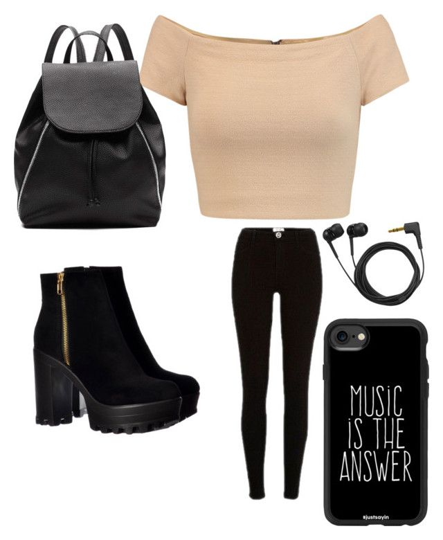"""Music is the answer!"" by rfavire on Polyvore featuring Alice + Olivia, River Island, Witchery, Casetify and Sennheiser"