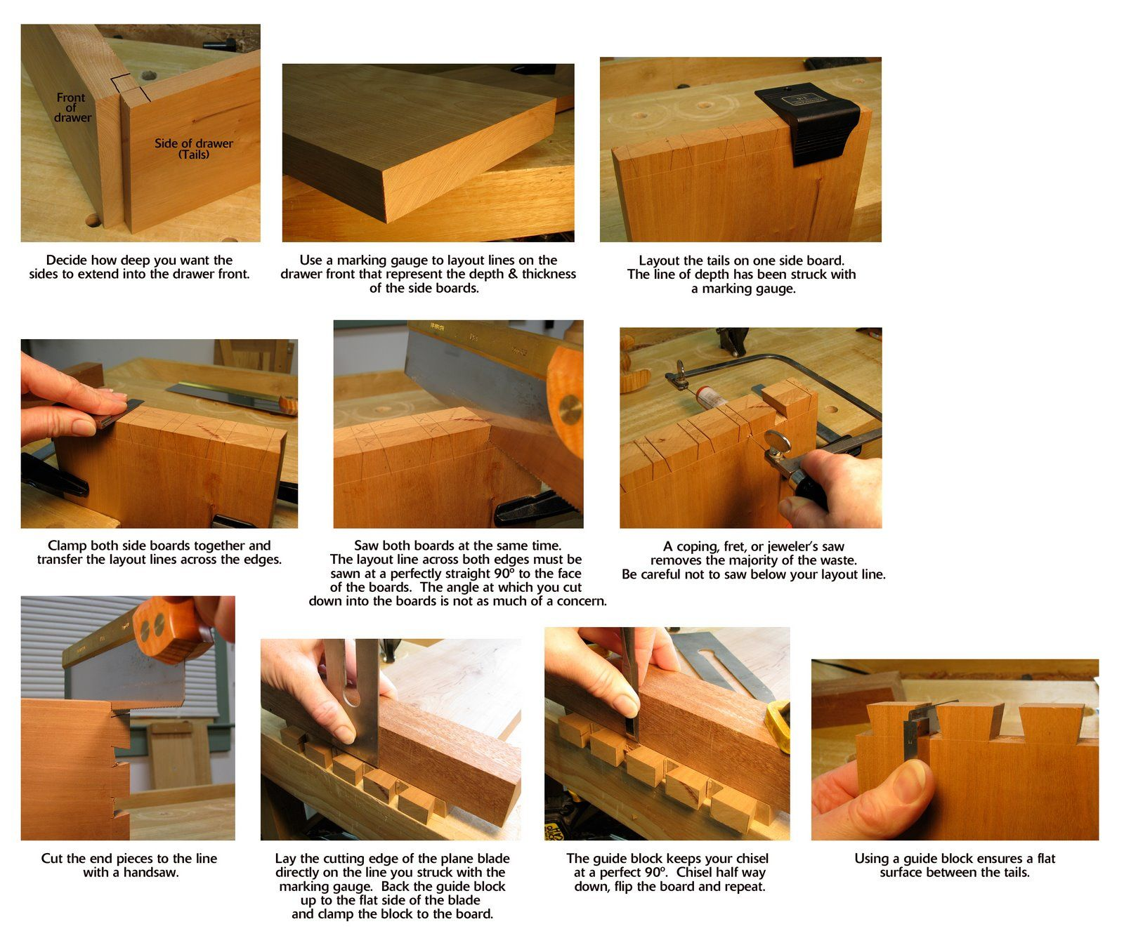 Half Blind Dovetails Woodworking Projects Plans Custom Woodworking Woodworking