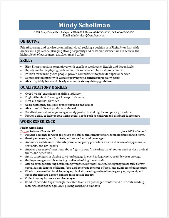 Resume For Flight Attendant Flight Attendant Resume Resume Education Resume