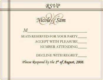 Invitation Ideas Wedding Rsvp Card Wording