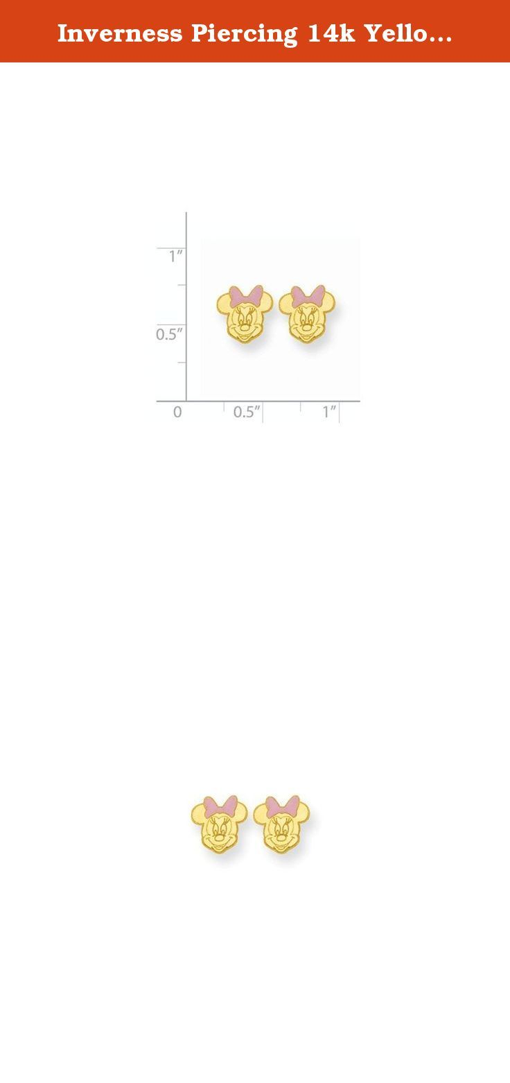 Inverness Piercing 14k Yellow Gold Minnie Mouse Earrings Inverness Earring  Pairs Are Sold In Sterile