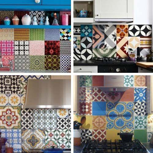 Patchwork piastrelle idee per la casa pinterest for Paraschizzi cucina mosaico