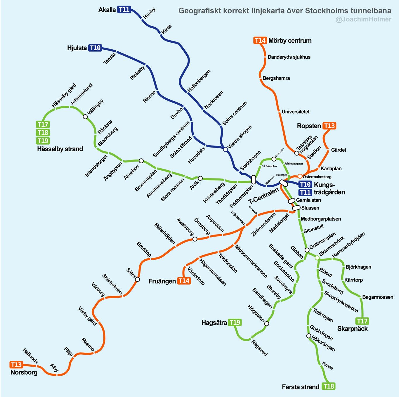 Stockholm Subway Map To See The Art Some Of The Best Stations You - Sweden tunnelbana map