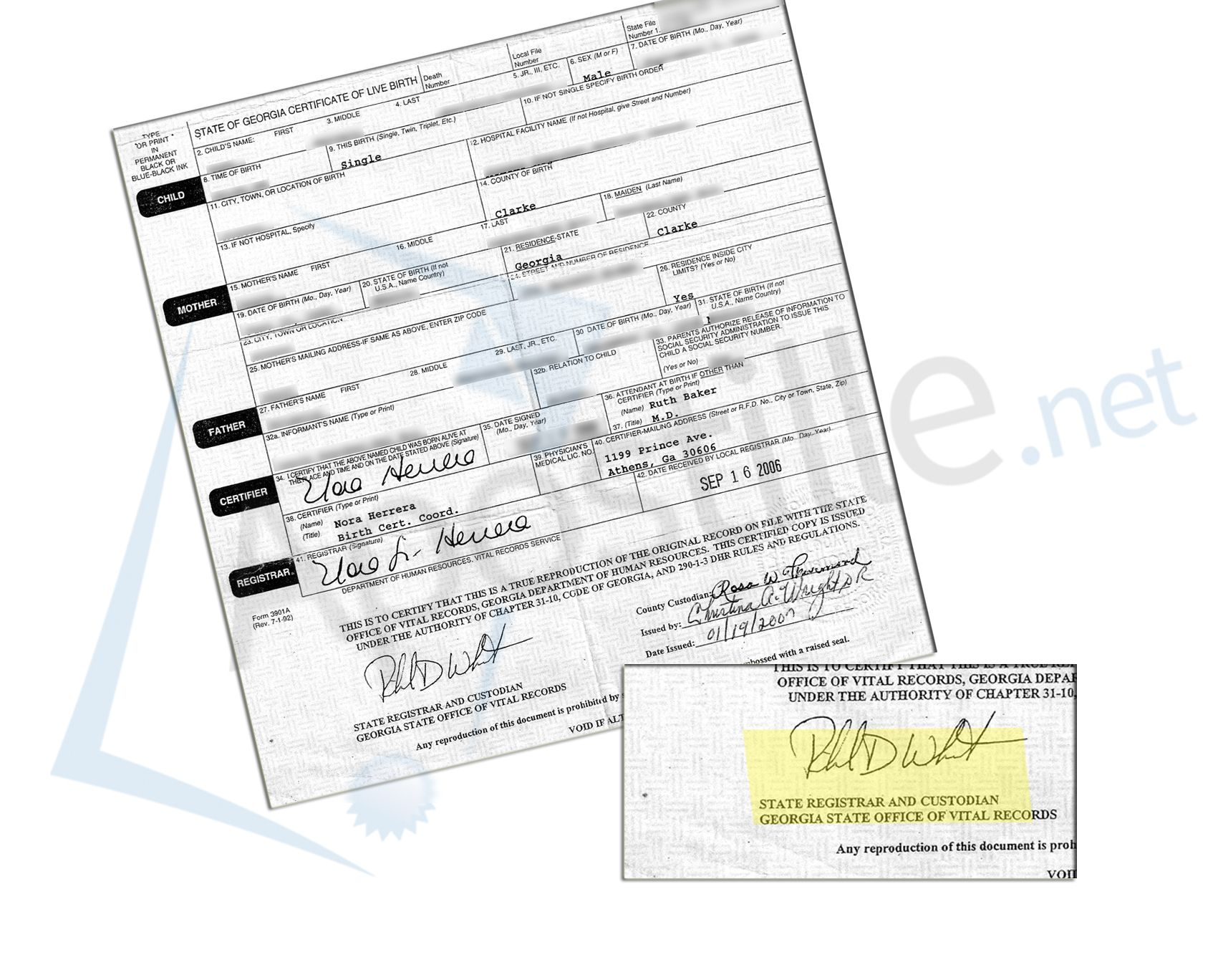 County of clarke georgia birth certificate signed by the state county of clarke georgia birth certificate signed by the state registrar xflitez Choice Image