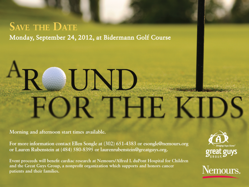 invitation wording for networking event%0A Round For the Kids Golf Outing Save the Date