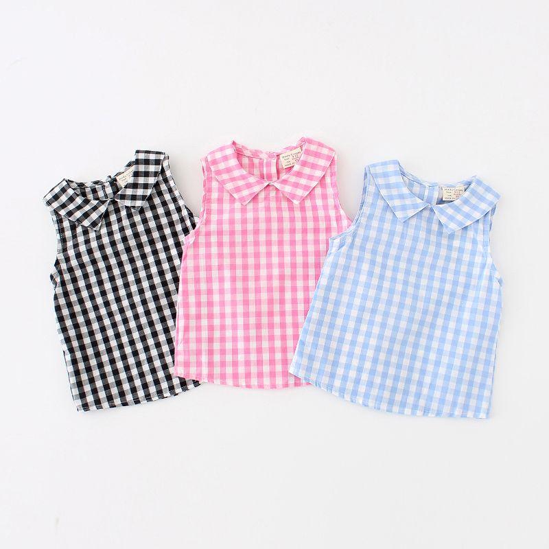 f9fb57223 Cheap Muchachas del verano del bebé camisa de tela escocesa de las  muchachas blusa tapas del algodón del bebé camisas de los niños del bebé  muchachas de las ...