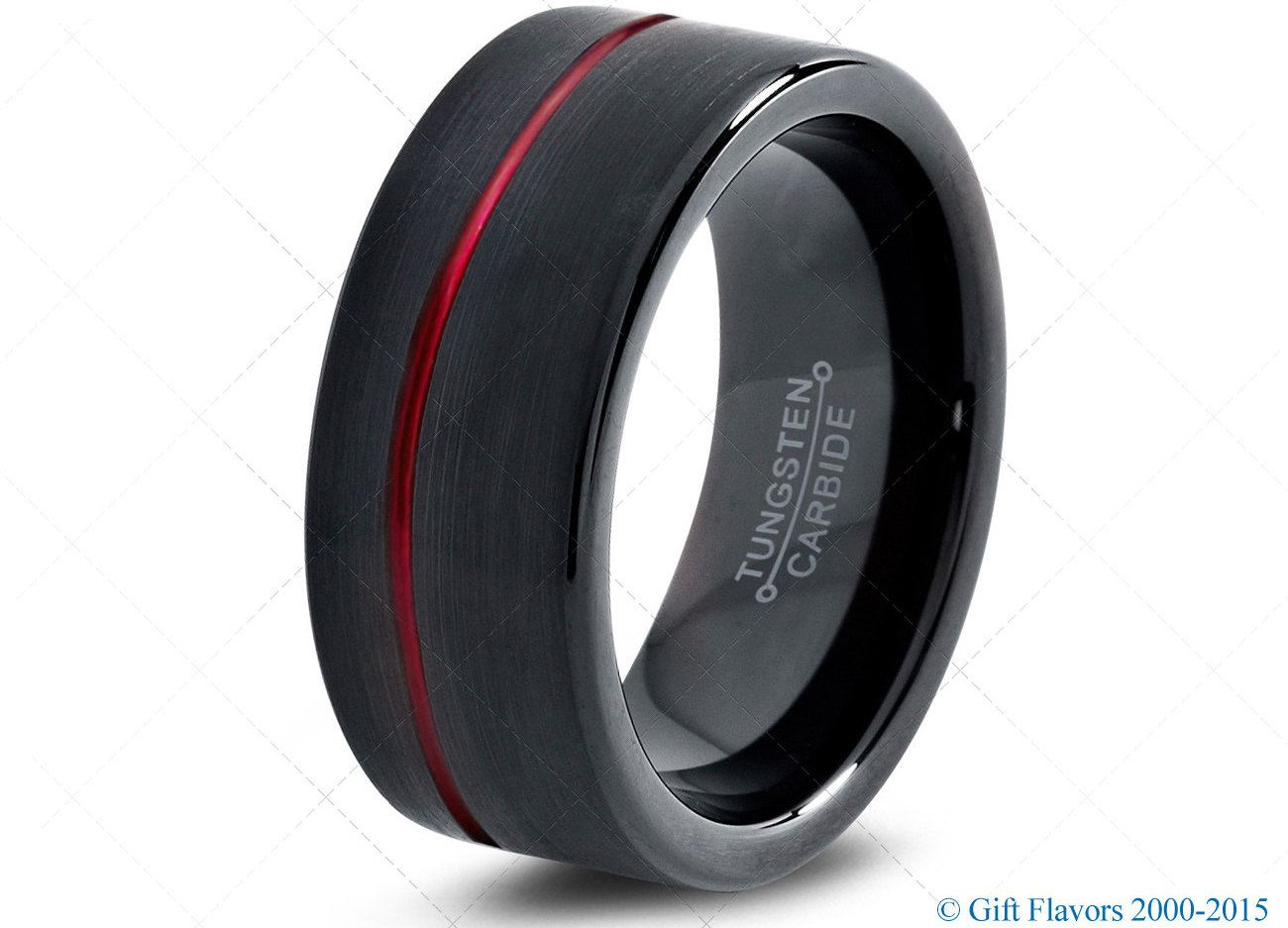 black tungsten ring red men tungsten rings red wedding bands red mens wedding - Tungsten Wedding Rings For Men
