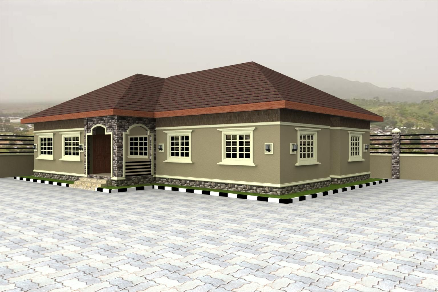 Home plans for bungalows in nigeria properties 4 nairaland for Four bhk bungalow plan