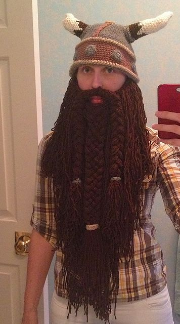 Crochet Viking Hat With Beard Free Pattern Smoothie Pinterest