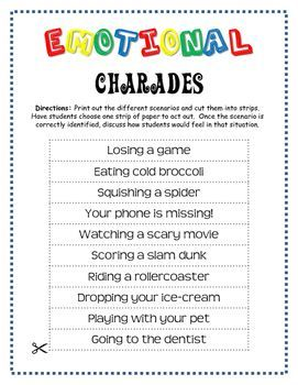 image relating to Charades for Kids Printable called Free of charge! - Sensation Charades Emotions And Inner thoughts Social