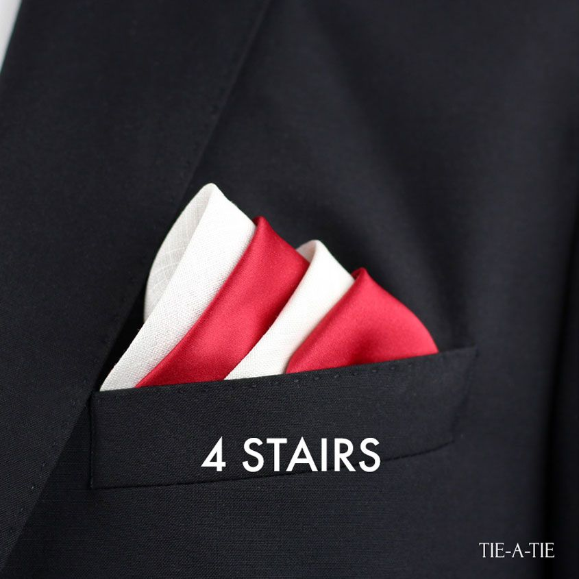 How To Fold Your Pocket Square With The Four Stairs