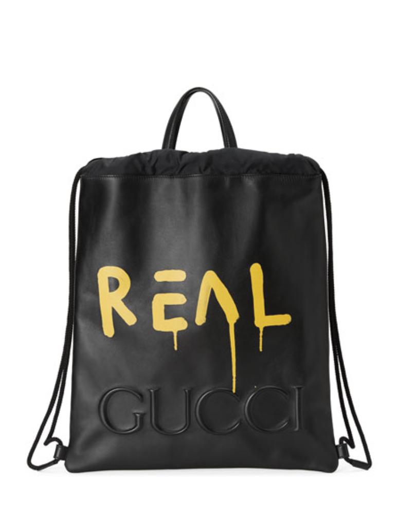 outlet store exquisite design huge selection of GucciGhost Drawstring Backpack | unusual backpacks | Black ...